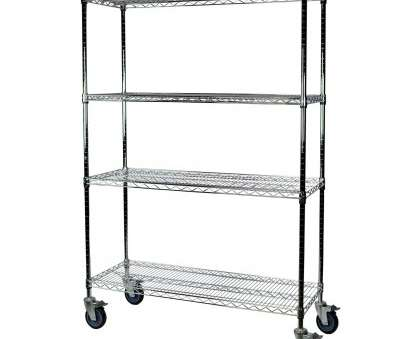 chrome wire shelving trolley Shop Shelving-Pro Chrome Wire Shelving with Wheels, 24 x 72 x, 4 Shelves, Free Shipping Today, Overstock.com, 21382674 Chrome Wire Shelving Trolley Top Shop Shelving-Pro Chrome Wire Shelving With Wheels, 24 X 72 X, 4 Shelves, Free Shipping Today, Overstock.Com, 21382674 Galleries