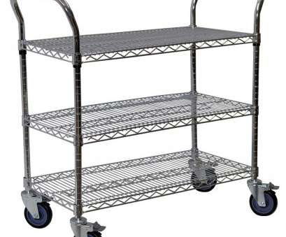 chrome wire shelving trolley Storage Concepts 3-Shelf Steel Wire Service Cart in Chrome, 39 in, 24 in, 60 in D Chrome Wire Shelving Trolley Best Storage Concepts 3-Shelf Steel Wire Service Cart In Chrome, 39 In, 24 In, 60 In D Pictures