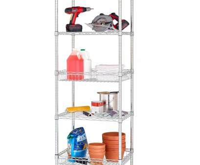 "Chrome Wire Shelving Wholesalers Australia Top Details About, 5 Tier Wire Shelving Tower Rack With 3"" Casters, 18"