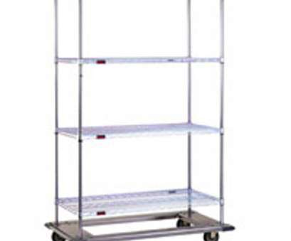 chrome wire shelving with wheels Chrome Wire Shelves on Platform Dolly Bases with Casters (40-7/8