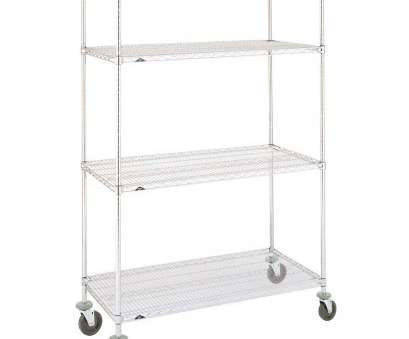 chrome wire shelving with wheels Metro Super Erecta N556EC Chrome Mobile Wire Shelving Unit with Polyurethane Casters, x, x 69