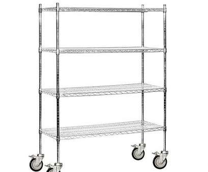 chrome wire shelving with wheels Salsbury Industries 9500M Series 48, W x 69, H x 18, D Industrial Grade Welded Wire Mobile Wire Shelving in Chrome Chrome Wire Shelving With Wheels Simple Salsbury Industries 9500M Series 48, W X 69, H X 18, D Industrial Grade Welded Wire Mobile Wire Shelving In Chrome Images