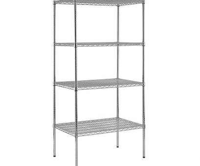 chrome wire shelving with wheels Sandusky 74, H x 36, W x 18, D 4-Shelf Heavy Duty Chrome Wire Shelving Unit Chrome Wire Shelving With Wheels Simple Sandusky 74, H X 36, W X 18, D 4-Shelf Heavy Duty Chrome Wire Shelving Unit Pictures