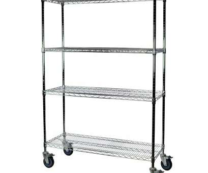 chrome wire shelving with wheels Storage-Hub Chrome Wire Shelving with Wheels, 24, 36, 74 H, 4 Shelves Chrome Wire Shelving With Wheels New Storage-Hub Chrome Wire Shelving With Wheels, 24, 36, 74 H, 4 Shelves Photos
