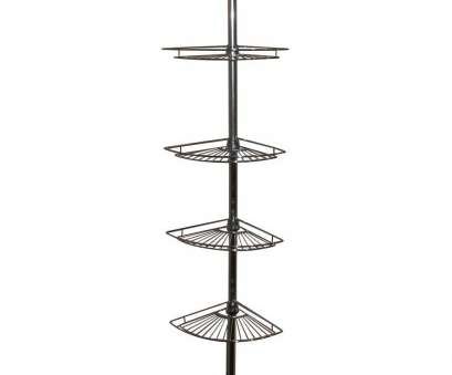 chrome wire shower shelf Zenna Home Metal Tension-Mount 4-Shelf Pole Shower Caddy in Chrome 8 Nice Chrome Wire Shower Shelf Ideas