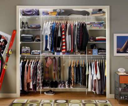 closet design with wire shelving Modern Bedroom with Boys Closetmaid Shelving Organizer, White Wire Shelves Rack Boys Closet Ideas,, Grey Wall Paint Closet Designs, 9 designs in Closet 14 Best Closet Design With Wire Shelving Ideas