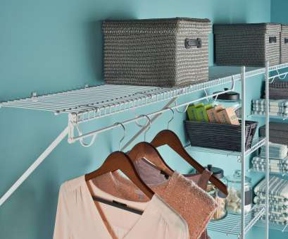closet rod for wire shelving ClosetMaid® Launches Continuous-Slide Organization Solution Closet, For Wire Shelving Nice ClosetMaid® Launches Continuous-Slide Organization Solution Pictures