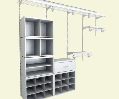 closetmaid wire shelving ideas ClosetMaid Elite 96, H x 96, W x 14.1, D 52-Piece Wire, Laminate Closet System in White 9 Fantastic Closetmaid Wire Shelving Ideas Solutions