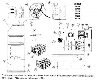 coleman 1c26-10 thermostat wiring diagram coleman evcon model eb15b furnace heater, electric genuine parts Coleman 1C26-10 Thermostat Wiring Diagram Most Coleman Evcon Model Eb15B Furnace Heater, Electric Genuine Parts Collections
