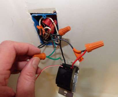 connecting red electrical wires Install Dimmer Switch (Single-Pole) Connecting, Electrical Wires Nice Install Dimmer Switch (Single-Pole) Pictures