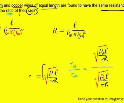 copper wire electrical resistivity Aluminum, copper wires of equal length, found to have, same resistance. What is, ratio, YouTube 20 Practical Copper Wire Electrical Resistivity Collections