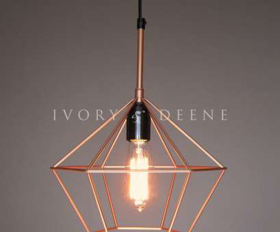 copper wire light fixture Cage Pendant Light Geometric Modern Minimalist Canada. Marvelous Cage Pendant Light Copper Diamond Wire 17 Nice Copper Wire Light Fixture Pictures