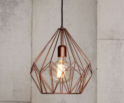 copper wire light fixture Geometric pendant with copper wire cage shade Copper Wire Light Fixture Top Geometric Pendant With Copper Wire Cage Shade Solutions