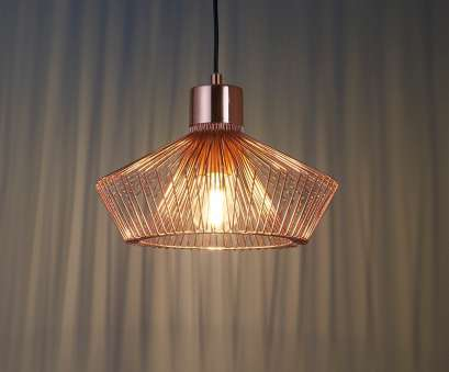 copper wire pendant light uk Modern Copper Wire Caged Pendant. Stunning Light Effect 8 Nice Copper Wire Pendant Light Uk Pictures