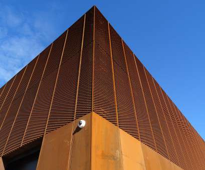 corten wire mesh Corten Mesh facade Hebburn Community Hub, window treatments 14 Brilliant Corten Wire Mesh Images