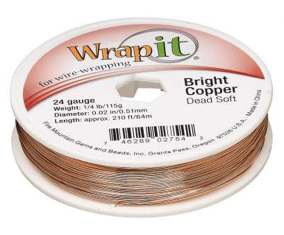 diameter of a 24 gauge wire Wire, Wrapit®, Bright Copper, dead-soft, round, 24 gauge. Sold, 1/4 pound spool, approximately, feet., Fire Mountain Gems, Beads Diameter Of A 24 Gauge Wire Brilliant Wire, Wrapit®, Bright Copper, Dead-Soft, Round, 24 Gauge. Sold, 1/4 Pound Spool, Approximately, Feet., Fire Mountain Gems, Beads Collections