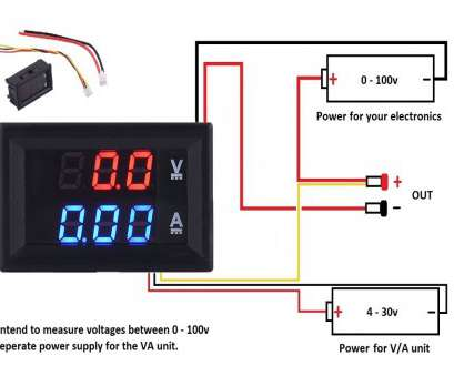 digital volt amp meter wiring diagram DC 100V, Voltmeter Ammeter Blue +, LED, Dual Digital Volt MeterA meter 10 Most Digital Volt, Meter Wiring Diagram Photos