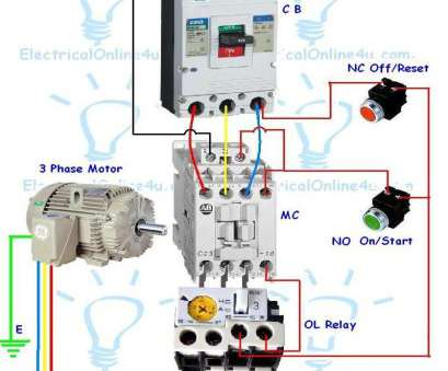 dol starter wiring diagram 3 phase cleaver contactor wiring guide, 3  phase motor with circuit