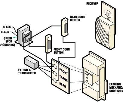 doorbell switch wiring diagram Wireless Chime Doorbell Wiring Diagram With Receiver, Dual Door Button Or Existing Mechanical Door Chime Doorbell Switch Wiring Diagram Professional Wireless Chime Doorbell Wiring Diagram With Receiver, Dual Door Button Or Existing Mechanical Door Chime Pictures