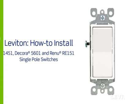 Double Switch Wire Diagram Brilliant Leviton Presents, To Install A Single Pole Switch Youtube Rh Youtube, Leviton Double Switch Wiring Leviton Light Switch Wiring Diagram Pictures