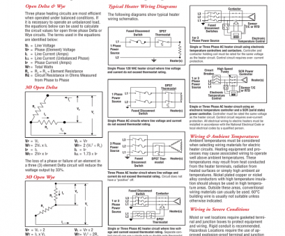 dpst thermostat wiring diagram Chromalox Three Phase Equations, Heater Wiring Diagrams Dpst Thermostat Wiring Diagram Cleaver Chromalox Three Phase Equations, Heater Wiring Diagrams Pictures