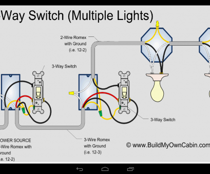 electric 3 way switch wiring 3, Switch Multiple Lights with 2 Wire Romex, Power Source Electric 3, Switch Wiring Cleaver 3, Switch Multiple Lights With 2 Wire Romex, Power Source Ideas
