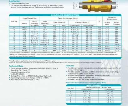 electrical cable gland size chart pdf 151, Cable glands, Hawke -, Catalogue, Technical Electrical Cable Gland Size Chart Pdf Cleaver 151, Cable Glands, Hawke -, Catalogue, Technical Ideas