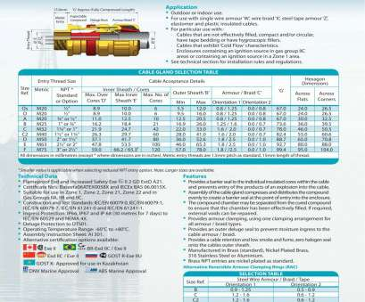 electrical cable gland size chart pdf ICG 653/UNIVERSAL Cable glands, Hawke -, Catalogue, Technical Electrical Cable Gland Size Chart Pdf Perfect ICG 653/UNIVERSAL Cable Glands, Hawke -, Catalogue, Technical Photos