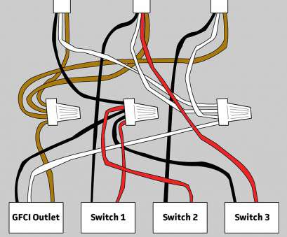 electrical light wiring diagram with light switch Electrical Wiring, GFCI, 3 Switches In Bathroom Home Inside Wire Diagram Light Switch 8 Creative Electrical Light Wiring Diagram With Light Switch Collections