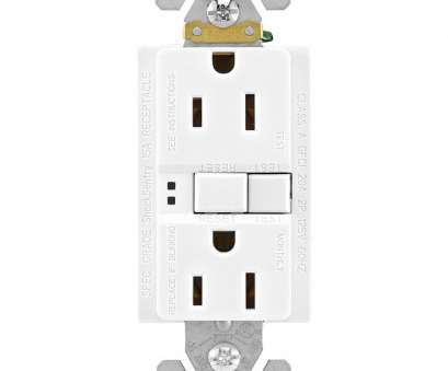 electrical outlet without wiring Eaton 15-Amp 125-Volt White GFCI Decorator Wall Outlet 3-Count Electrical Outlet Without Wiring Cleaver Eaton 15-Amp 125-Volt White GFCI Decorator Wall Outlet 3-Count Collections