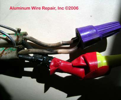 electrical panel for aluminum wiring Burned Purple Wirenuts Found in, Field, Aluminum Wire Repair, Inc Electrical Panel, Aluminum Wiring Fantastic Burned Purple Wirenuts Found In, Field, Aluminum Wire Repair, Inc Pictures