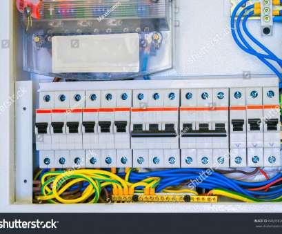 electrical panel wiring connection Electrical panel with a, of wires, switches. Cabling is connected to circuit breakers Electrical Panel Wiring Connection Brilliant Electrical Panel With A, Of Wires, Switches. Cabling Is Connected To Circuit Breakers Solutions