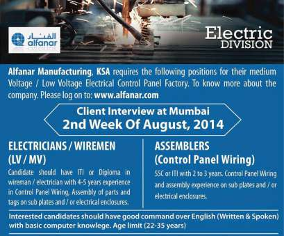 Electrical Panel Wiring Jobs In Mumbai Popular Alfanar, Large, Vacancies, Electric Division, Free Recruitment Solutions
