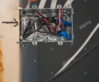 electrical wall outlet wiring Electrical wall outlet, mounted on wall stud inside a home Electrical Wall Outlet Wiring Top Electrical Wall Outlet, Mounted On Wall Stud Inside A Home Images