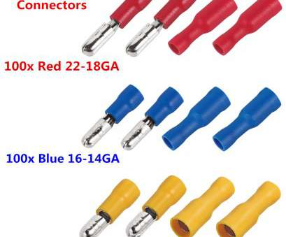electrical wire bullet connectors Details about 300pcs Insulated Male&Female Bullet Connector Terminals 22-10, Wire, Sets Electrical Wire Bullet Connectors Simple Details About 300Pcs Insulated Male&Female Bullet Connector Terminals 22-10, Wire, Sets Ideas