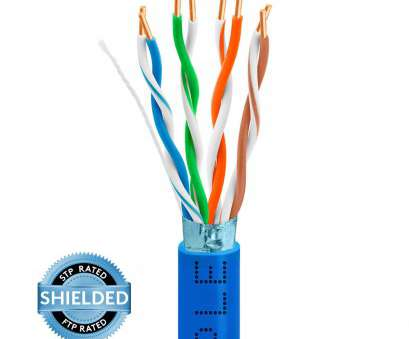 Electrical Wire Colours India Creative STP/FTP CAT5E 1000Ft Bare Copper, Cable 24AWG Bulk Network Wire, Blue Pictures