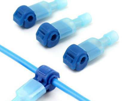electrical wire tap connectors Get Quotations · Bestgle Self-Stripping Electrical T-Tap Wire Spade Connectors of 50 Male, Female Electrical Wire, Connectors Practical Get Quotations · Bestgle Self-Stripping Electrical T-Tap Wire Spade Connectors Of 50 Male, Female Photos