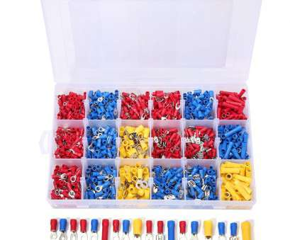 electrical wire connectors kit SOLOOP 1200pcs Mixed Assorted, Kit Insulated Electrical Wire Connector Terminal Spade Ring Set Electrical Wire Connectors Kit Creative SOLOOP 1200Pcs Mixed Assorted, Kit Insulated Electrical Wire Connector Terminal Spade Ring Set Ideas