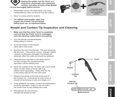 electrical wire size and uses Nozzle, contact, inspection, cleaning, Chicago Electric Wire Feed Welder, 170 User Manual, Page 27 / 32 Electrical Wire Size, Uses Brilliant Nozzle, Contact, Inspection, Cleaning, Chicago Electric Wire Feed Welder, 170 User Manual, Page 27 / 32 Ideas
