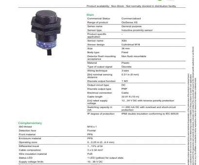 electrical wire size vs distance XS4P18PA340 Schneider Electric Proximity Sensors, Mouser Electrical Wire Size Vs Distance Perfect XS4P18PA340 Schneider Electric Proximity Sensors, Mouser Images