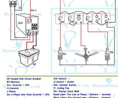 electrical wiring diagram office UPS & Inverter Wiring Diagram, One Room / Office ~ Electrical Online 4u, Electrical Tutorials 9 Perfect Electrical Wiring Diagram Office Images