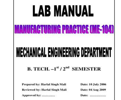 electrical wiring residential lab manual Manufacturing Practice -, Manual, B.Tech., Mechanical Engineering Electrical Wiring Residential, Manual Nice Manufacturing Practice -, Manual, B.Tech., Mechanical Engineering Images