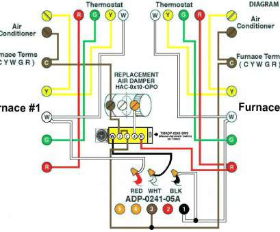 on ac heater thermostat wiring diagram