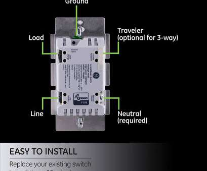 ge smart switch 3 way wiring diagram GE Z-Wave Plus Wireless Smart Lighting Control Switch, On/Off, In-Wall Ge Smart Switch 3, Wiring Diagram Most GE Z-Wave Plus Wireless Smart Lighting Control Switch, On/Off, In-Wall Ideas