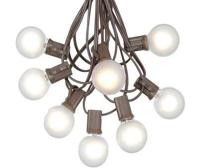 globe string lights brown wire Picture of, G40 Globe String Light, with Frosted White Bulbs on Brown Wire Globe String Lights Brown Wire Perfect Picture Of, G40 Globe String Light, With Frosted White Bulbs On Brown Wire Photos