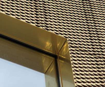 Gold Wire Mesh Screen Professional METAL SHEET, PANEL, ROOF / METAL SHEET, PANEL, FACADE TECU® GOLD TECU® COLLECTION BY, ITALY S.P.A., ARCHITECTURAL SOLUTIONS Ideas