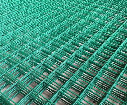 green pvc coated wire mesh panels 6FT x, Green, Coated Wire Mesh Panels Sheet 1