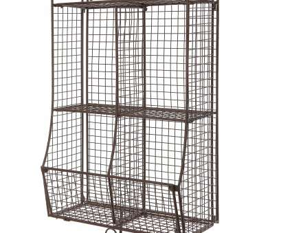 hanging wire mesh shelves Wall Mounted/Collapsible Brown Metal Wire Mesh Storage Basket Shelf Organizer Rack w/ 2 Hanging Wire Mesh Shelves Popular Wall Mounted/Collapsible Brown Metal Wire Mesh Storage Basket Shelf Organizer Rack W/ 2 Pictures