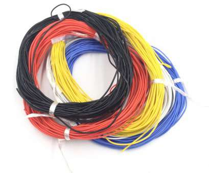 high temperature electrical wire (5M/lot) 26AWG 30/0.08TS OD1.5mm 5colors flexible silicone electric wire high temperature tinned copper, soft cable, model-in Wires & Cables from 12 Fantastic High Temperature Electrical Wire Ideas