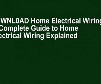 home electrical wiring by david w rongey D0WNL0AD Home Electrical Wiring: A Complete Guide to Home Electrical Wiring Explained by, Video Dailymotion Home Electrical Wiring By David W Rongey Nice D0WNL0AD Home Electrical Wiring: A Complete Guide To Home Electrical Wiring Explained By, Video Dailymotion Solutions